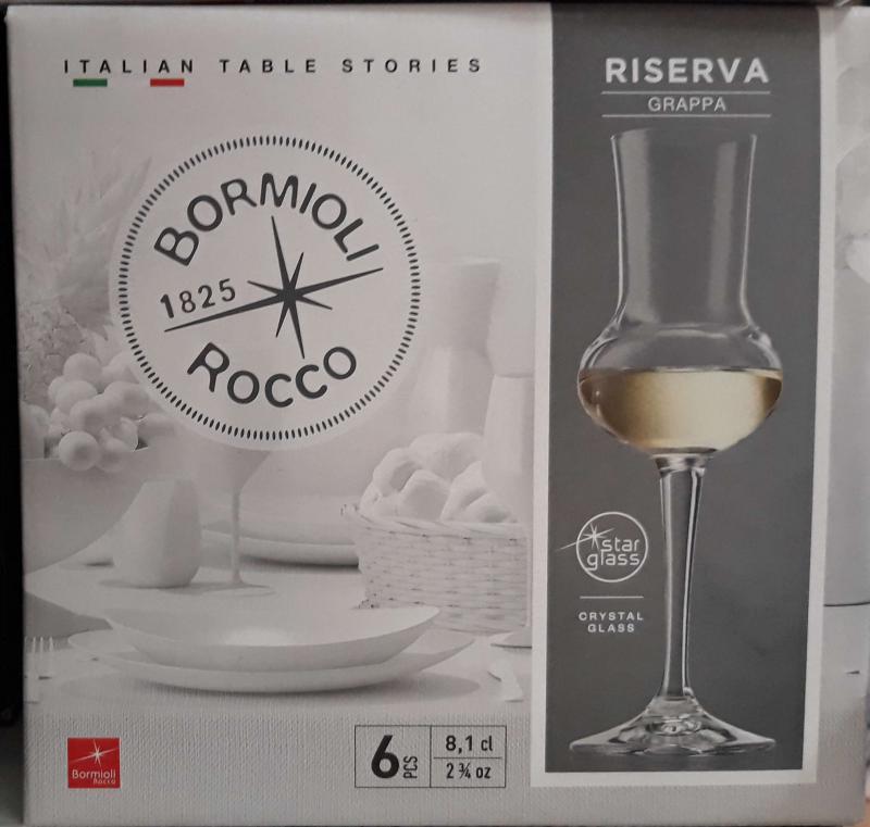 Bormioli Rocco Riserva grappás kehely, 8 cl, 6 db, 119030