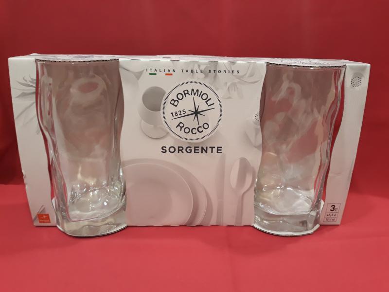 BORMIOLI ROCCO SORGENTE üdítős pohár, trans, 46 cl, 3 db, 119842