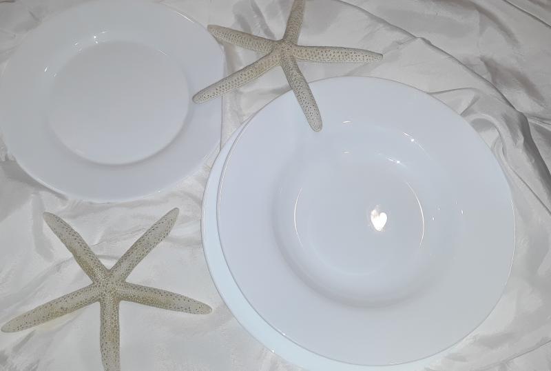 Bormioli Rocco TOLEDO 19 részes fehér étkészlet, 202048