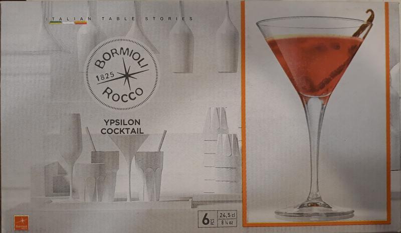 Bormioli Rocco Ypsilon talpas koktélos pohár 24,5, 6db