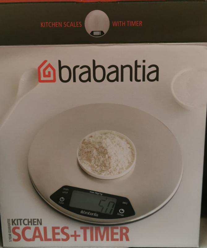 Brabantia digitális mérleg, kerek, Matt Steel, 5 kg-ig, 480560