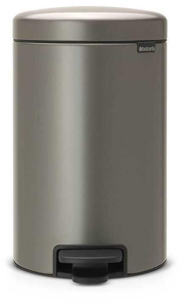 Brabantia Pedal Bin Newicon Platinum, 12 liter, pedálos szemetes, 113628