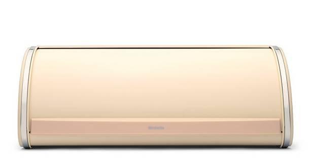 Brabantia Roll Top Almond, krém színű fém kenyértartó, 2 kg, 380327