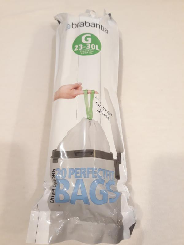 BRABANTIA Szemeteszsák, 23-30 liter, 20 db, /G/, 180004