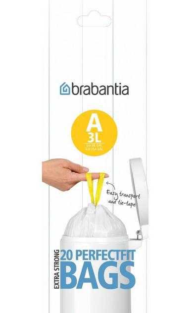 BRABANTIA szemeteszsák, 3 liter, 20 db, /A/, 180007