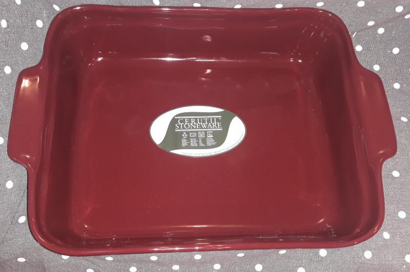 Cerutil Corval kerámia sütőtál, padlizsán színű,  27X39 cm, 440016