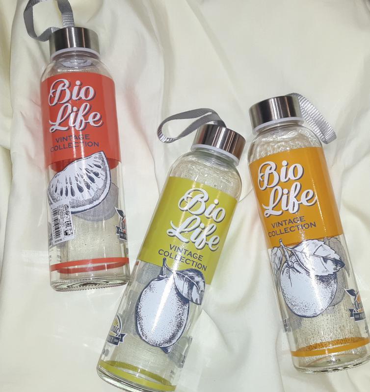 Cerve Bio Life üveg kulacs-úti flaska, dinnye/narancs, 0,5 liter, 165327