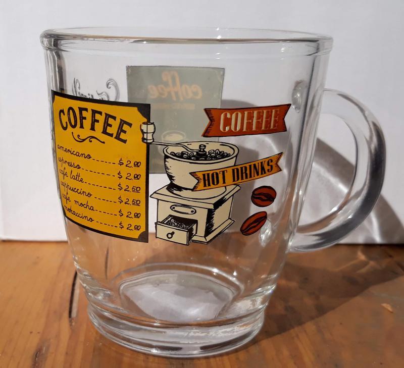Cerve Italian Coffee bögre, vastag üveg, 38 cl, 1db, 165313