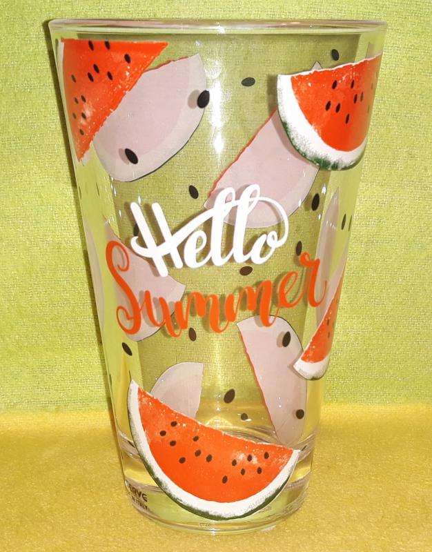 Cerve Nadia Hello Summer üdítős-vizes pohár ( dinnye mintás), 31 cl, 1 db, 165322