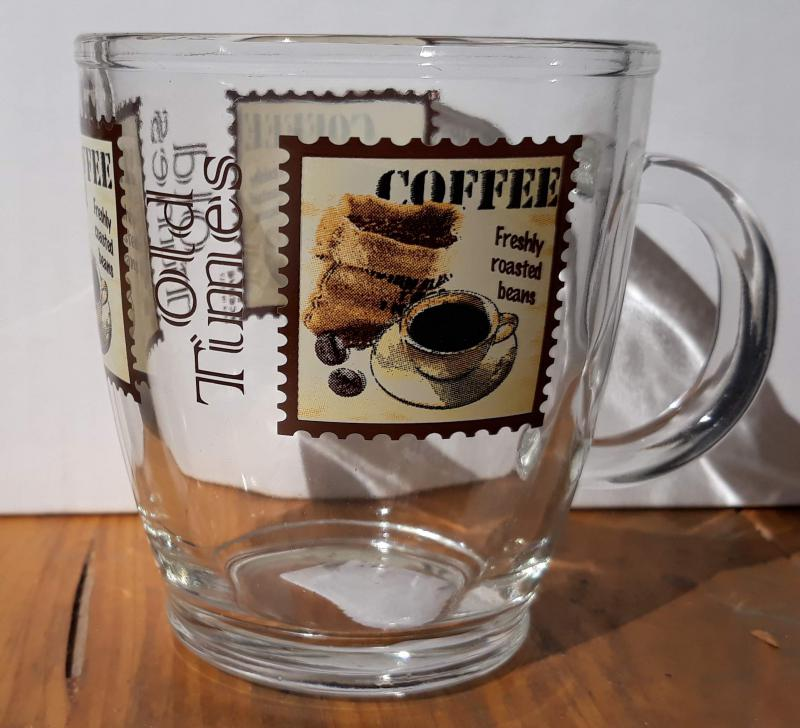 Cerve Old Times Coffee bögre, vastag üveg, stamp, 38 cl, 165175