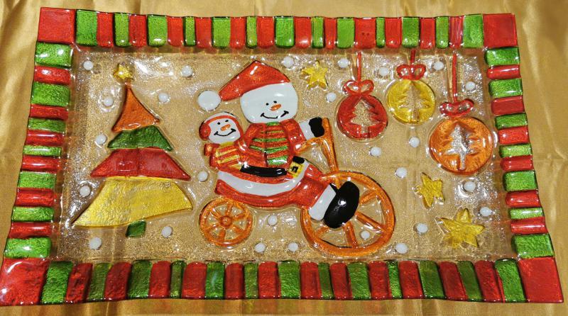 Cerve Télapós karácsonyi tál (téglalap), 42X25 cm, 165281