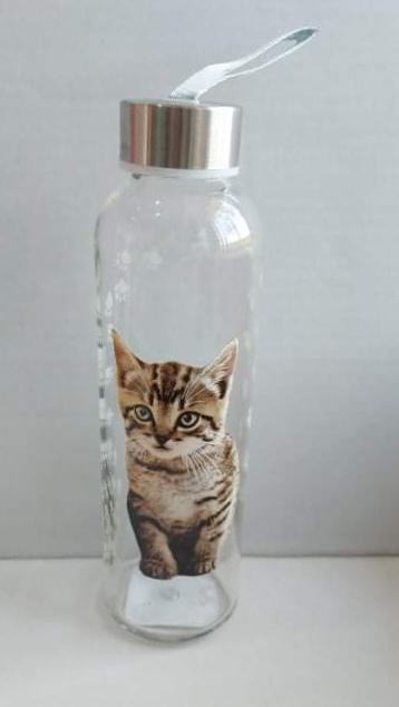 Cerve üveg palack-kulacs, cicás, 0,5 liter, 1 db