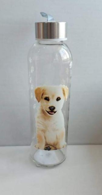Cerve üveg palack-kulacs, kutyás, 0,5 liter