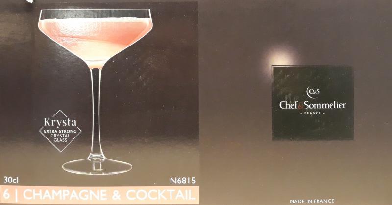Chef&Sommelier; Cabernet pezsgős kehely, 30 cl, 6 db, 502660