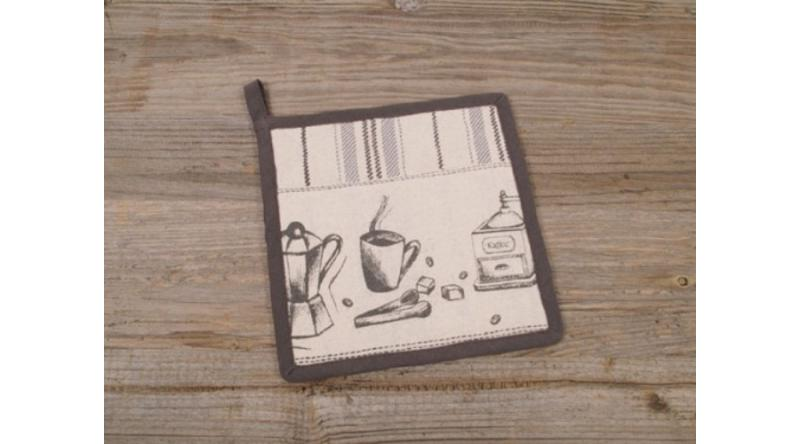 C.H.S.17741 Edényalátét 20x20cm, 100% pamut, Kaffee