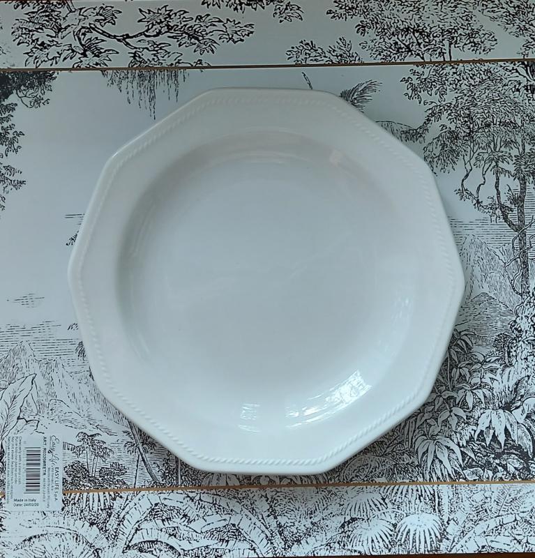 CHURCHILL ARTIC WHITE kerámia desszert tányér fehér 20cm, 407149DT