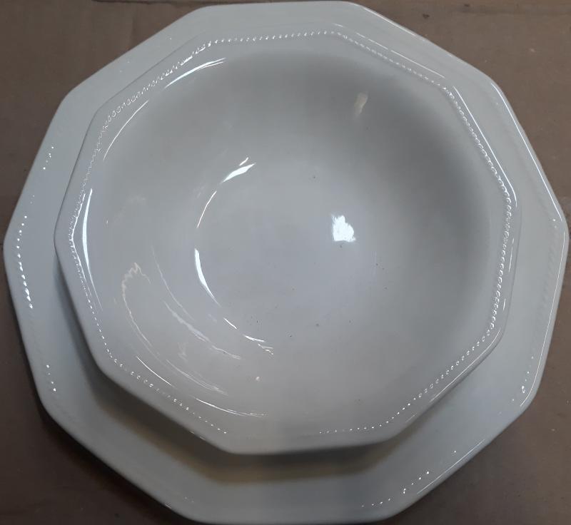 CHURCHILL ARTIC WHITE kerámia étkészlet, szögletes, fehér, 19 részes, 407149