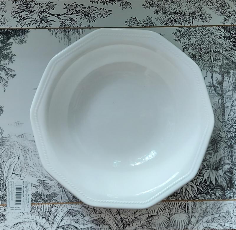 CHURCHILL ARTIC WHITE kerámia mély tányér fehér 20cm, 407149MT