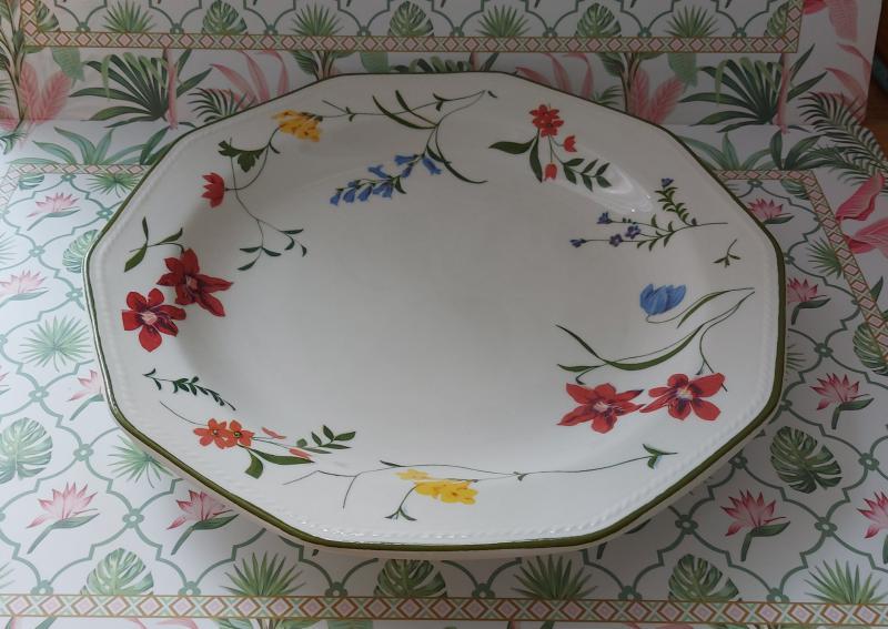 Churchill Floral Blooms kerámia lapos tányér 26,5 cm, 1 db