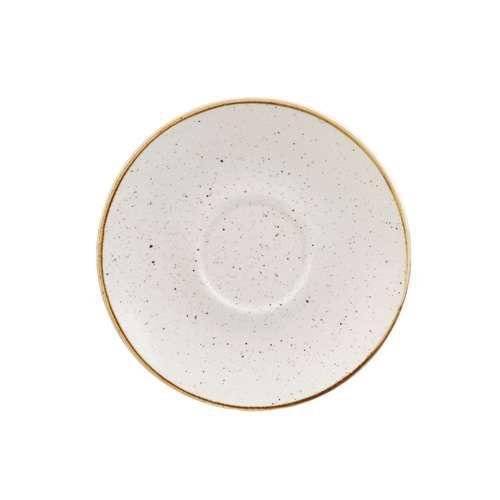 Churchill STONECAST BARLEY WHITE kerámia csészealj ( Cappuccino ) 15,6cm 1db, SWHSCSS 1