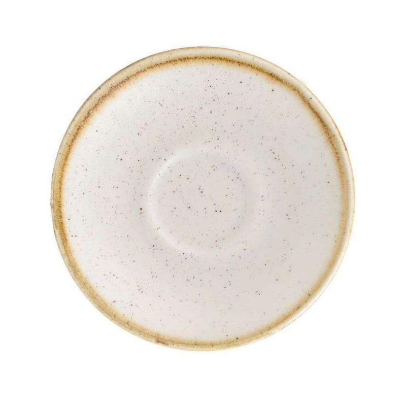 Churchill STONECAST BARLEY WHITE kerámia csészealj ( Espresso ) 11,8cm 1db, SWHSESS 1