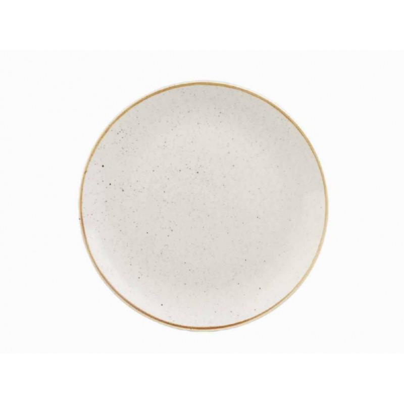 Churchill STONECAST BARLEY WHITE kerámia desszert tányér 21,7cm 1db, SWHSEVP81