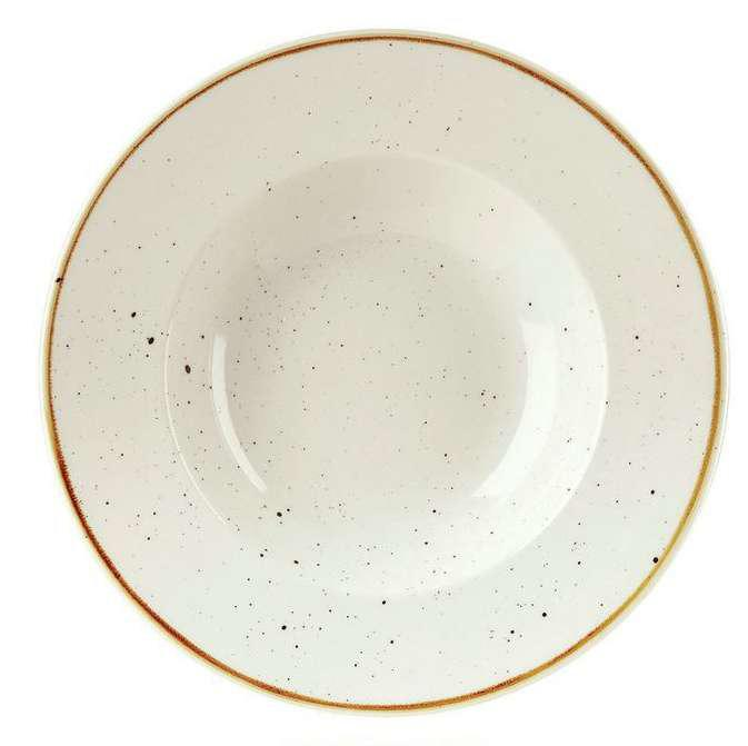 Churchill STONECAST BARLEY WHITE kerámia széles peremes, mély tányér 28cm 1db, SWHSVWBL1