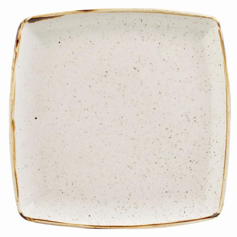 Churchill STONECAST BARLEY WHITE kerámia szögletes tál 26,8 x 26,8 cm 1db, SWHSDS101
