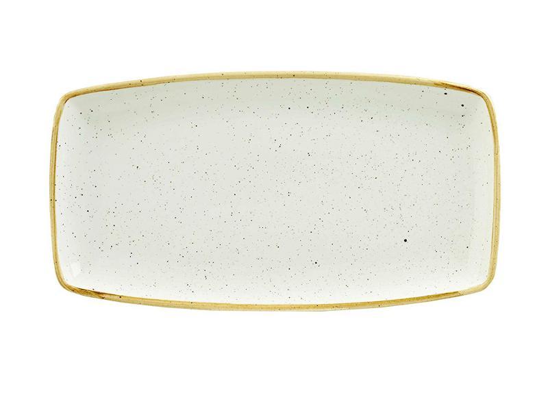 Churchill STONECAST BARLEY WHITE kerámia szögletes tál 34,5 x 18,5 cm 1db, SWHSOP141