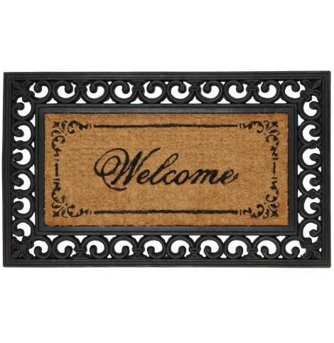 """CLEEF.MC031 Lábtörlő 45x76cmx16mm,gumis szélű """"Welcome"""""""