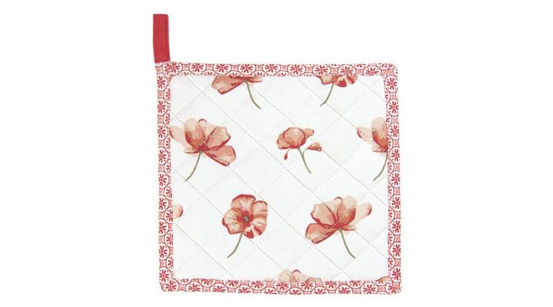 CLEEF.POF45 Edényalátét 20x20cm pamut,Poppy Flowers