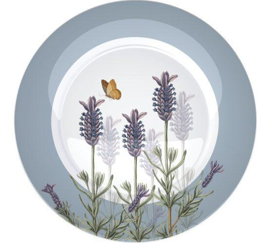 Creative Tops 5151262 Porcelán desszerttányér 4db-os dobozban 188mm,Lavender, Royal Botanic Garden