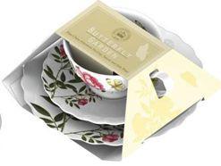 Creative Tops 5151571 Porcelán teáscsésze+alj+desszerttányér 1db, White Butterfly,V&A