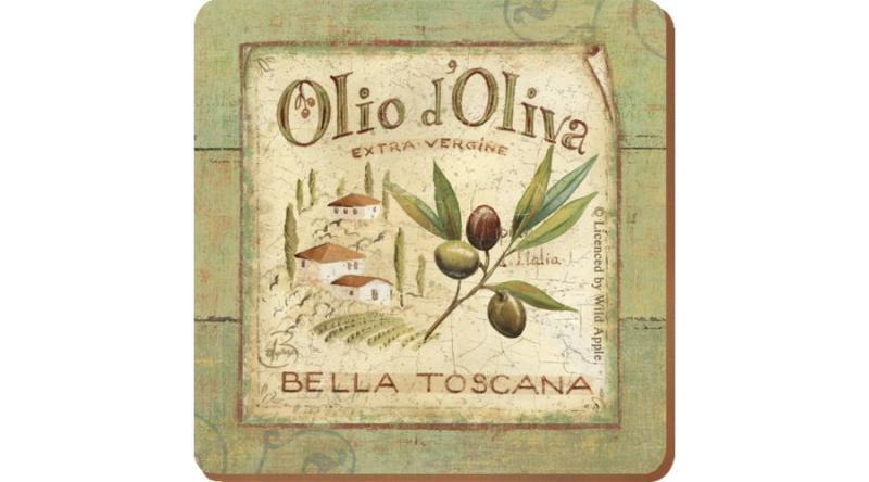 C.T.5169653 Parafa poháralátét 6db-os 105x105x5mm, Olio d'Oliva