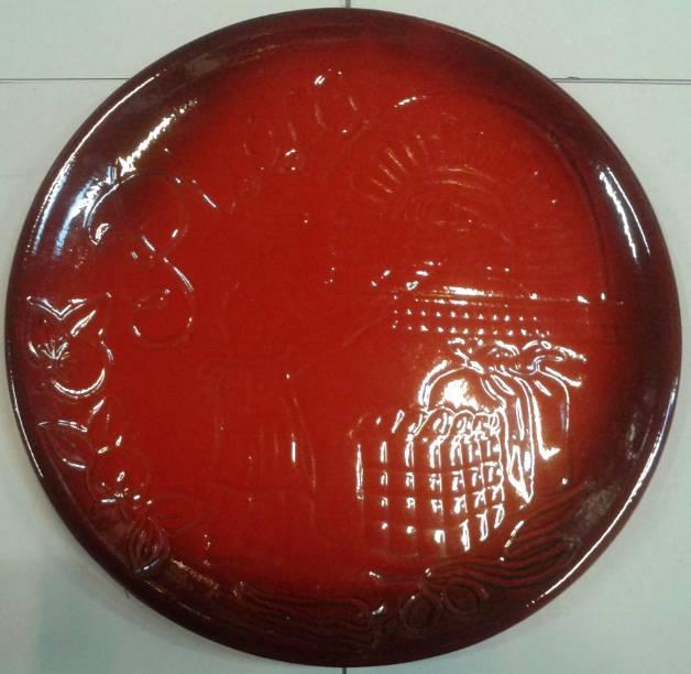 DE SILVA Pizzatál, piros, 31 cm, 150098