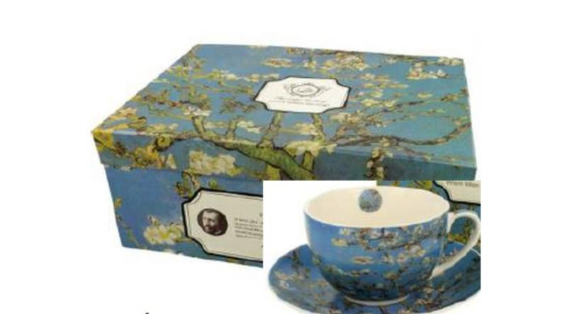 D.G.19810 Porceláncsésze+alj, 280ml, 6 személyes, Van Gogh: Mandulavirágzás