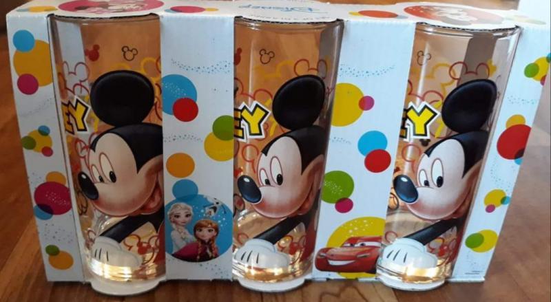 Disney Mickey üdítős pohár szett, 27 cl, 3db, 263003