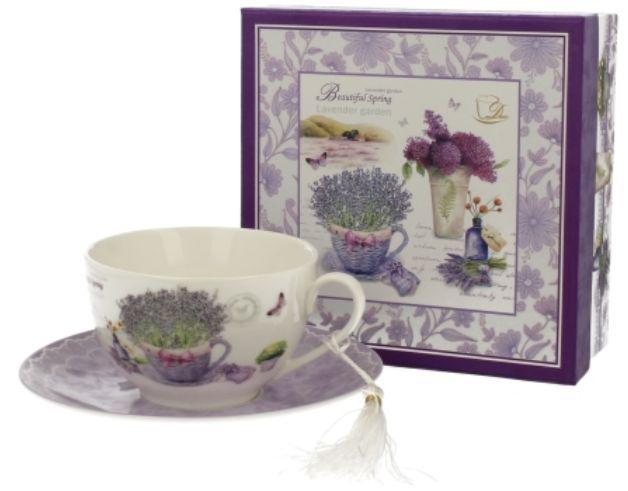Duo Gift 00535 Porcelán teáscsésze+alj 250ml,dobozban,Passion