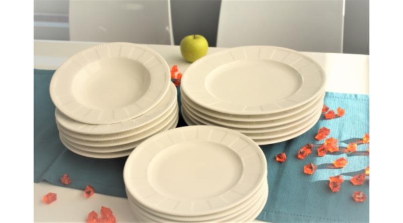 Duo Gift 00559 Porcelán étkészlet 6 személyes, 18 részes, 19/22/27cm, CASSETTE