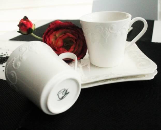 Duo Gift 00658-ING Porcelán csésze + alj 2 személyes, dobozban, 100ml, Ing