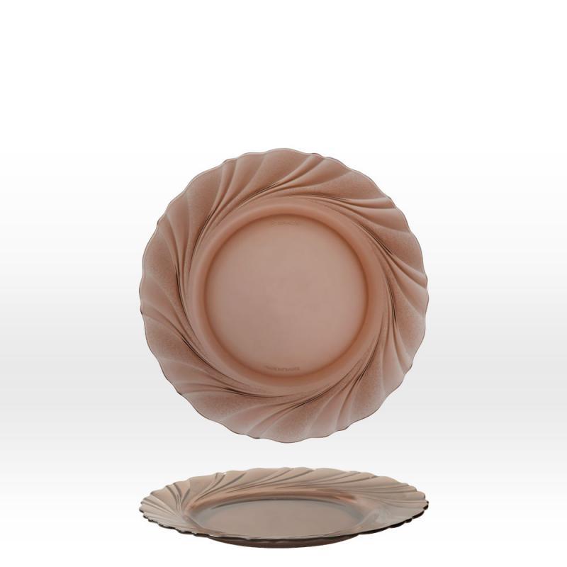 Duralex Beau Rivage desszertes tányér, 19,5 cm, füstszínű, duralexdesszert