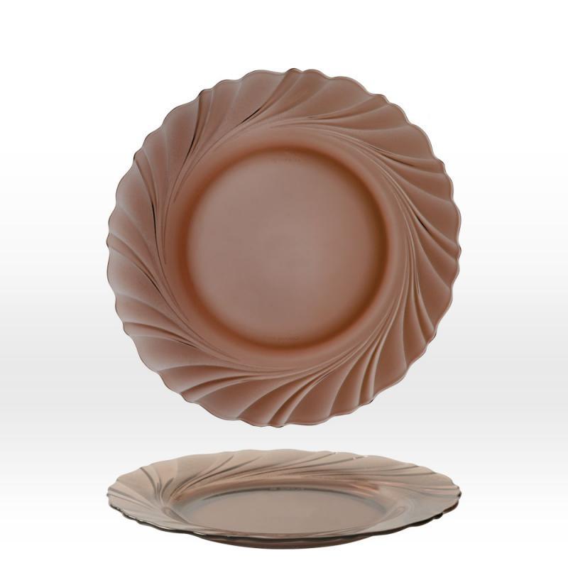 Duralex Beau Rivage lapos tányér, 23,5 cm, füstszínű, duralexlapos
