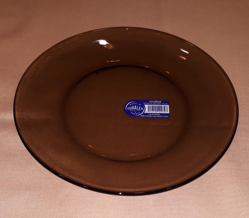 Duralex Lys Creole füstszínű desszert tányér ,19 cm, 201040