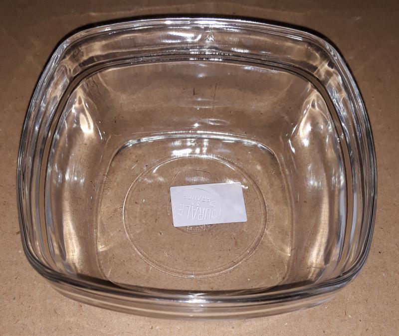 Duralex LYS salátás tál, szögletes, 11X11 cm, 201013