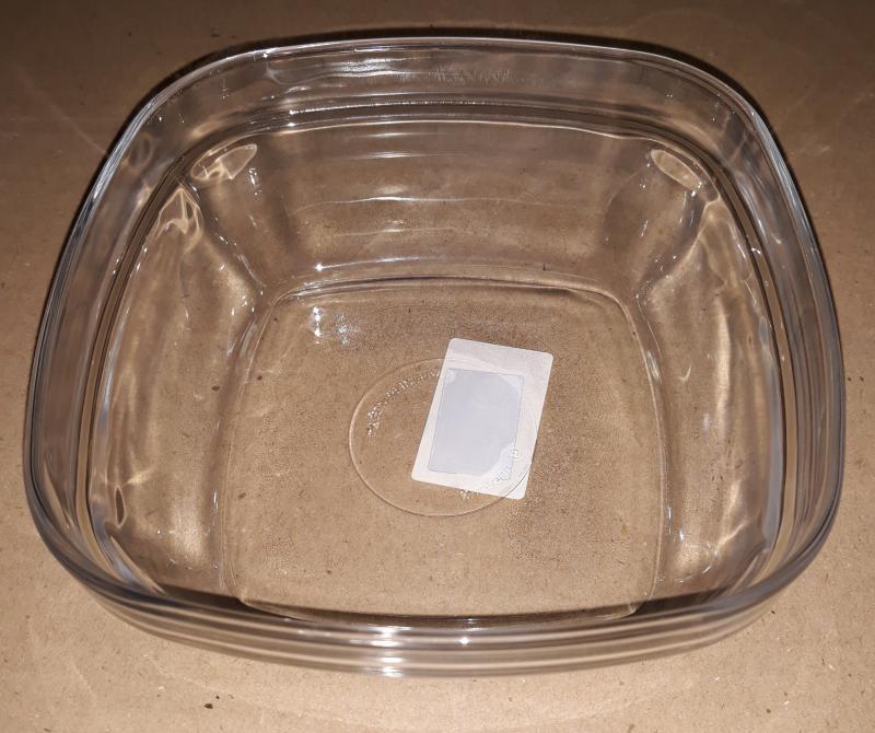 Duralex LYS salátás tál, szögletes, 14X14 cm, 201014