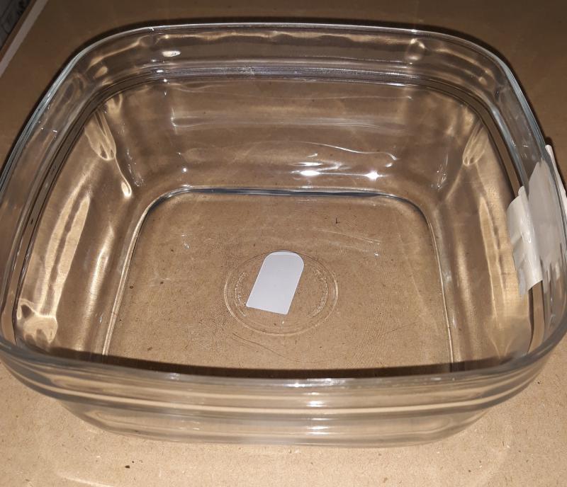 Duralex LYS salátás tál, szögletes, 17X17 cm, 201015
