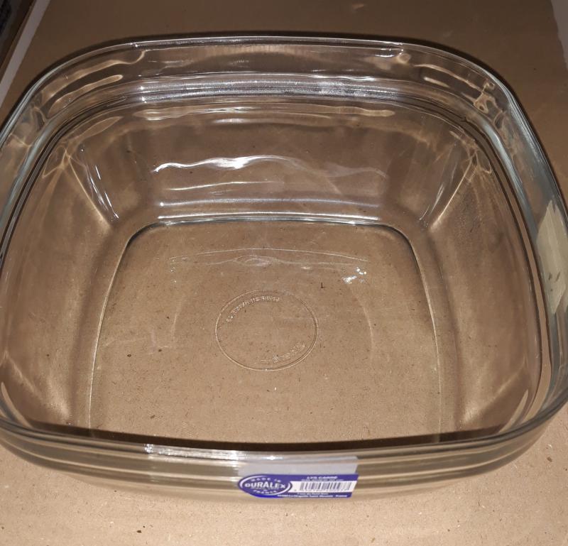 Duralex LYS salátás tál szögletes, 20X20 cm, 201032