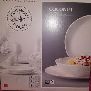 Bormioli Rocco Coconut 18 részes üveg étkészlet, 202052