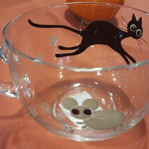 Luminarc Mistigri jumbo bögre, macskás-egeres, 50 cl, 501236