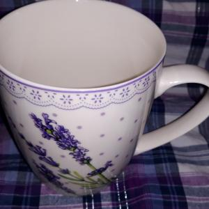 Veroni Lawenda levendulás porcelán bögre, 340 ml